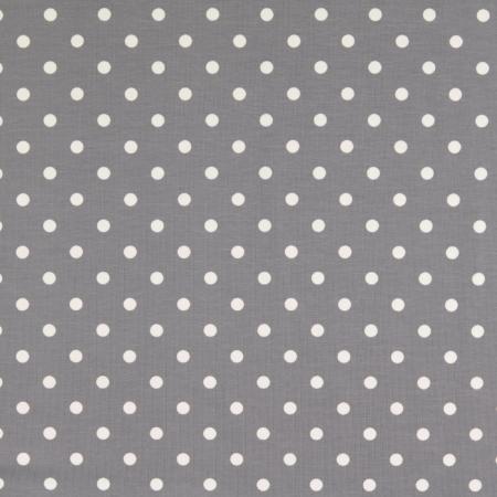 Jersey mit Punkte grau-weiss