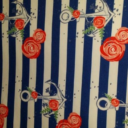 Hilco Jersey Panel Streifen weiss/blau