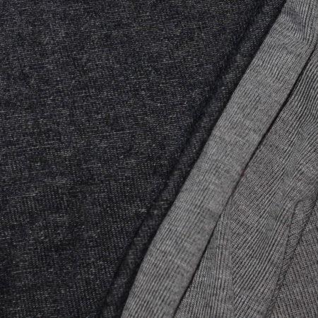 Toller Viskose Jersey reversible von Hilco namens Stenay in schwarz grau